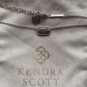 Kendra Scott Silver Pendant Necklace Filigree